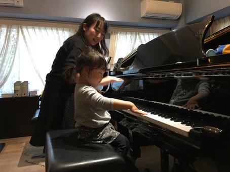 水曜&土曜の個人リトミックと初めてのピアノ(プレ導入コース)