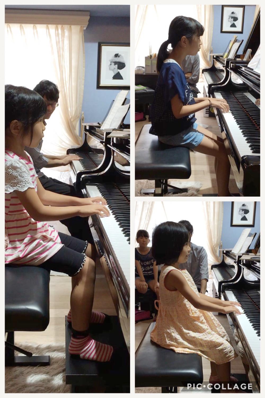 先生と2台ピアノでも演奏しました!