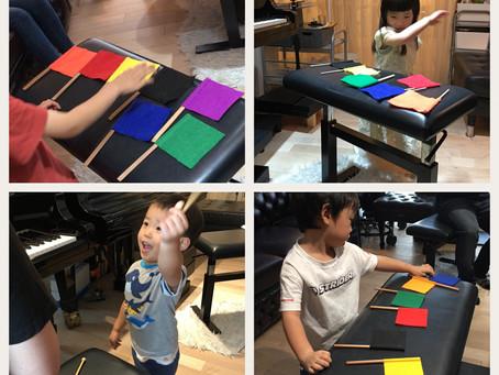 頑張ってます!絶対音感トレーニング/江東区CRECERピアノ教室