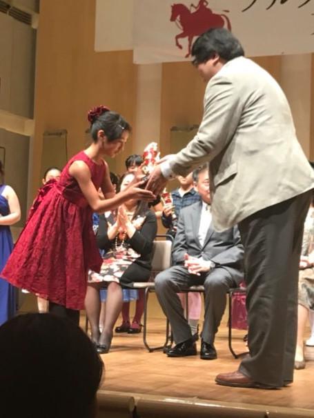 金賞受賞の表彰式
