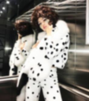 dalmatian total look mink stole