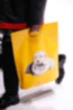 Balenciaga Yellow Leather Bag Tote Dog Cat Print