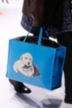 Balenciaga Demna Gvasalia Cabas Tote Blue Dog Cat