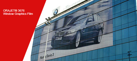 3676 - Perforated Window Graphics PVC Digital Media (60% / 40% Perforation)