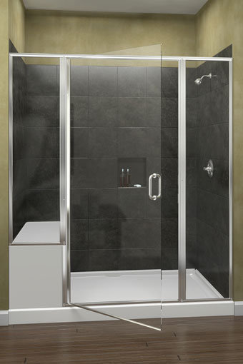 Infinity 1412 Frameless Swing Shower Door