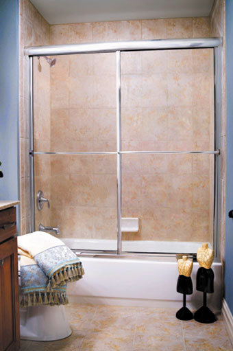 """Supreme 2150 (61"""" - 66"""") Sliding Shower Door"""