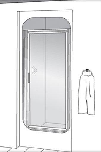Deluxe 335 Swing Glass Shower Door