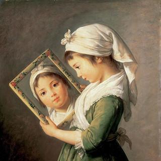 Portrait (holding a mirror)