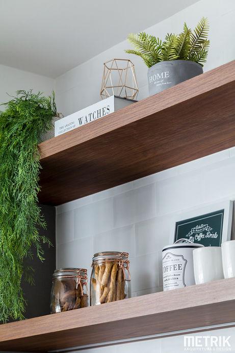 Metrik Design - Escritório de Arquitetura e Interiores  Arquiteto Blumenau e Balneário Camboriú  - Sala e cozinha escandinava