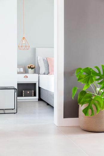 Metrik Design - Arquitetura e Interiores  Arquiteto Blumenau e Balneário Camboriú  - Quarto Escandinavo Rosé