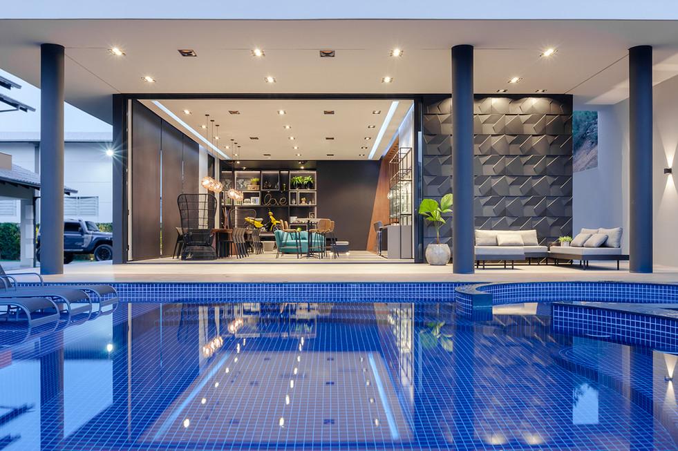 Metrik Design - Escritório de Arquitetura e Interiores -   Arquiteto em Blumenau e Balneário Camboriú  - Área de festas moderna luxo