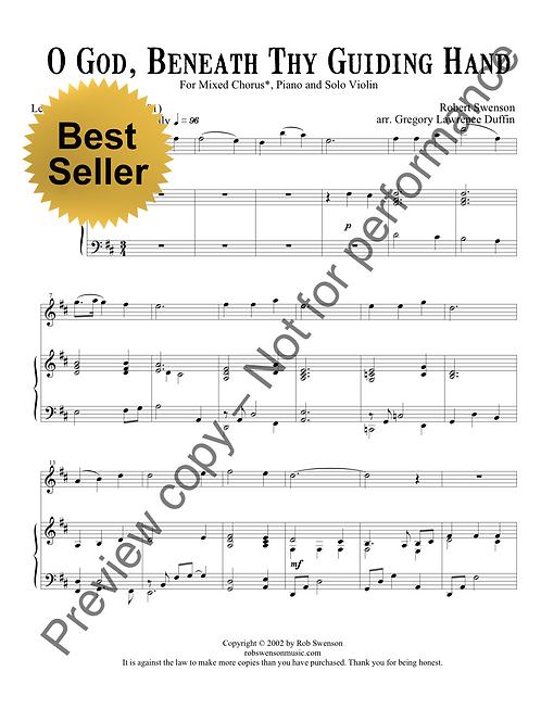 O God, Beneath Thy Guiding Hand (SATB choir, piano, and violin)