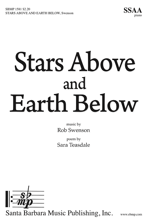 Stars Above and Earth Below (SSAA choir and piano)