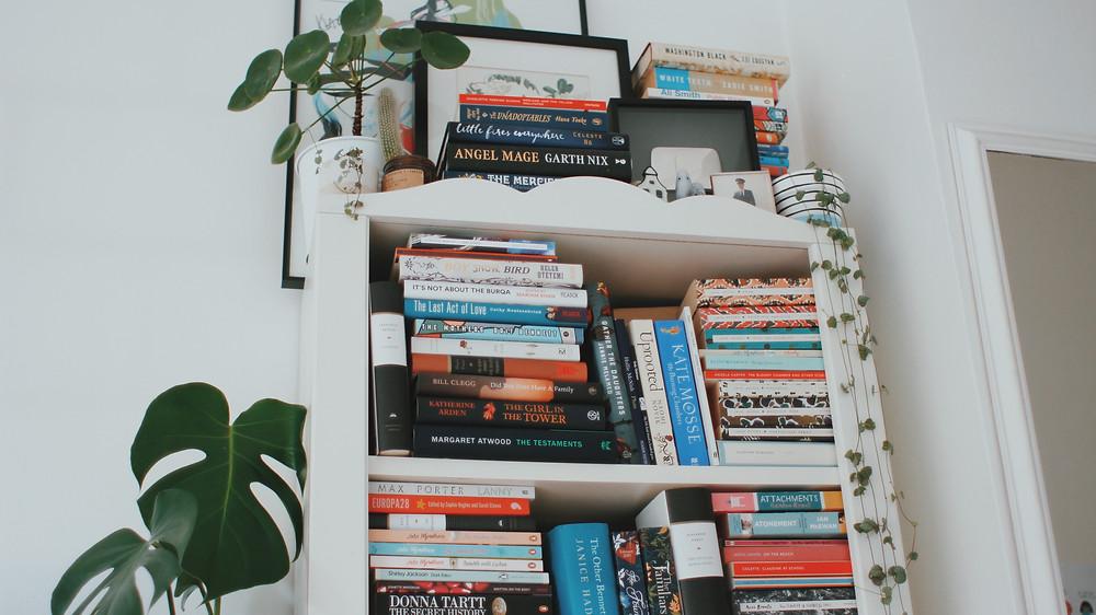 Sanne's colourful bookshelves