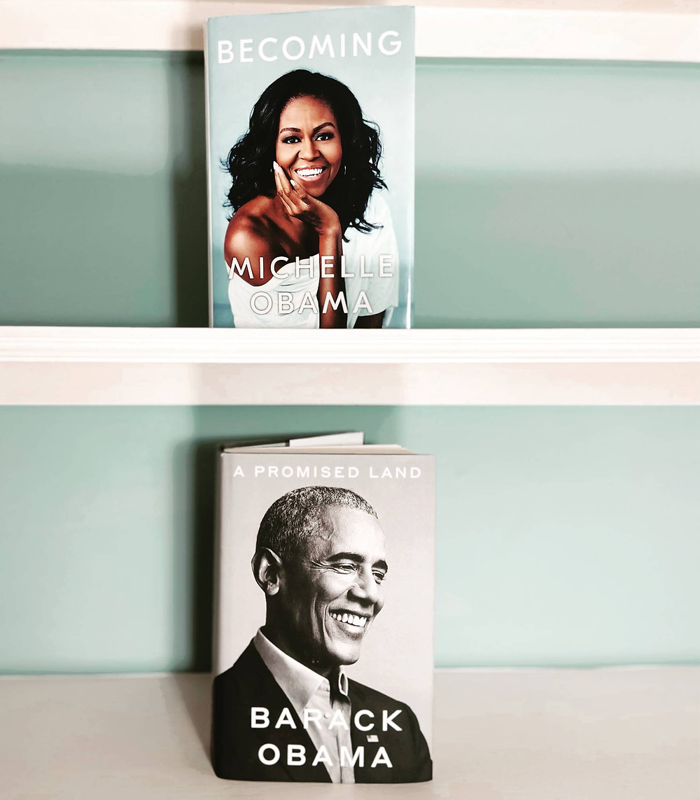 'Becoming' by Michelle Obama and 'The Promised Land' by Barack Obama