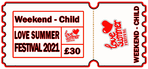 Child Weekend Ticket, 6 - 9th August 2021