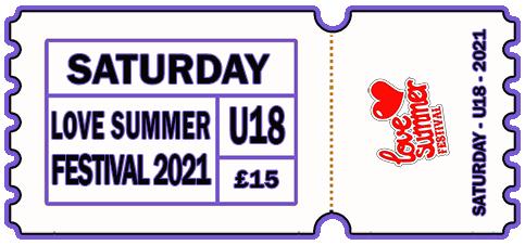 Saturday 2021 - DAY TICKET - UNDER 18