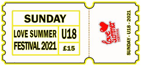 Sunday 2021 - DAY TICKET - UNDER 18