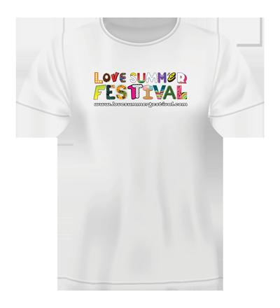 Love Summer Festival TShirt - Available in Black or White