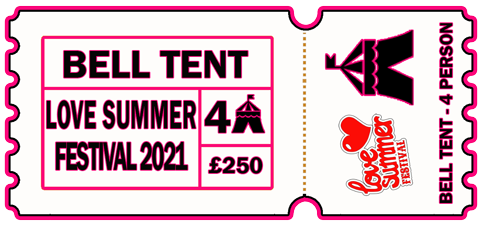 4 Person Bell Tent - 6-9th August 2021