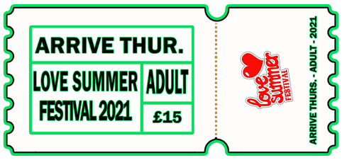 Arrive Early - THUR 5th AUG 2021 - ADULT