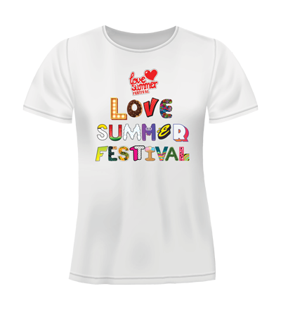 Love Summer Festival - TShirt (Large Print) - Available in Black or White