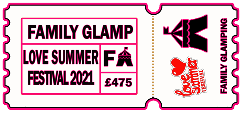 Family Glamping Package - 4 Person Bell, 2 Adults, 2 Children +WC