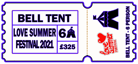 6 Person Bell Tent - 6-9th August 2021