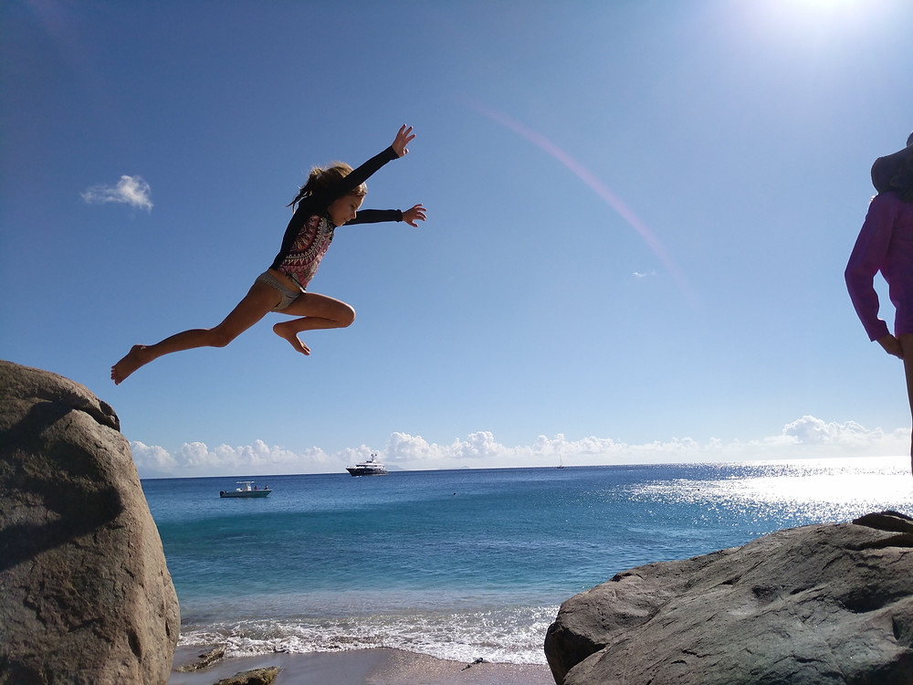 Juliet Jumping, St. Barth