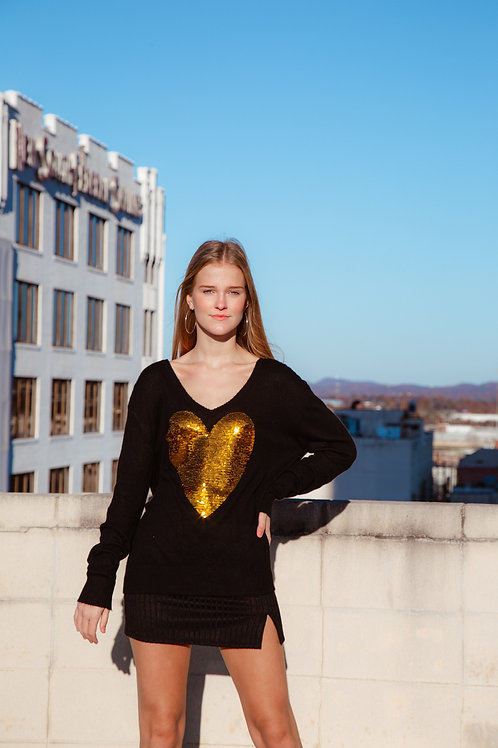 Heart Of Gold Sweater by Wildfox