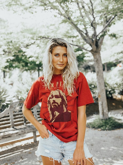 Tom Petty & The Heartbreakers Red Graphic Tee
