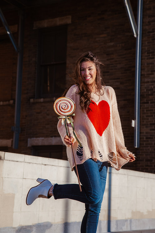 The Candy Heart Sweater by Wildfox