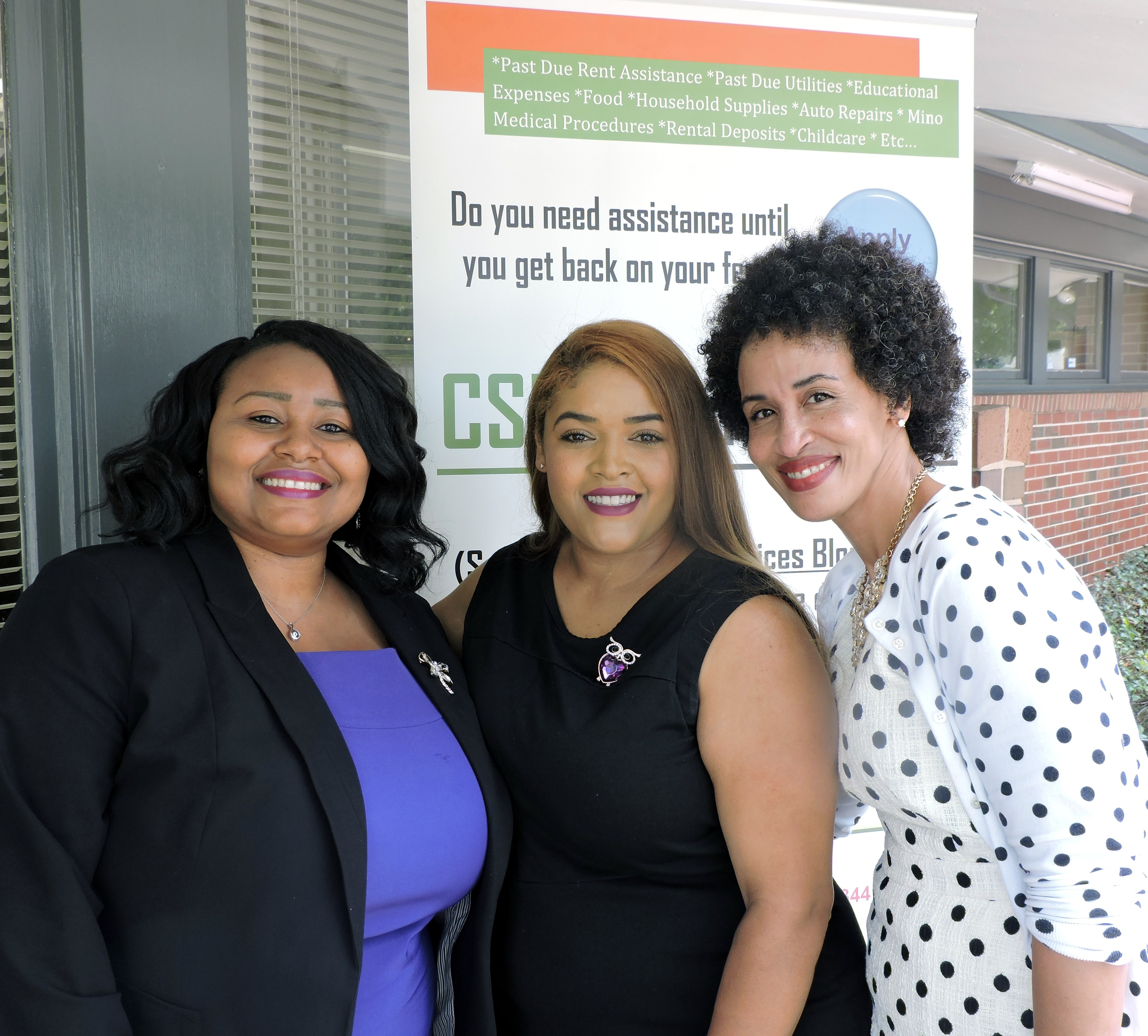 Natasha Elliott, CPCA Executive Director, Sheryl Andrews, CSBG Director, Allexus Porter, CSBG Assist