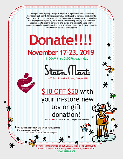 Steinmart Christmas Donation Flyer.png