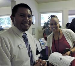 Victor Martinez, PNC Bank & Karen Shaw, Durham DSS