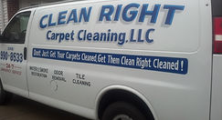 CLEAN RIGHT CARPET CLEANINGS TRUCK W/MOUNTED HIGH POWERED WAER EXTRACTION MACHINE 248-990-8533