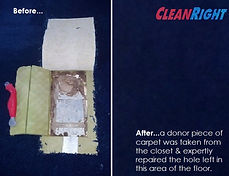 CLEAN RIGHT CARPET CLEANING DOES SEAMLESS CARPET REPAIRS 248-990-8533