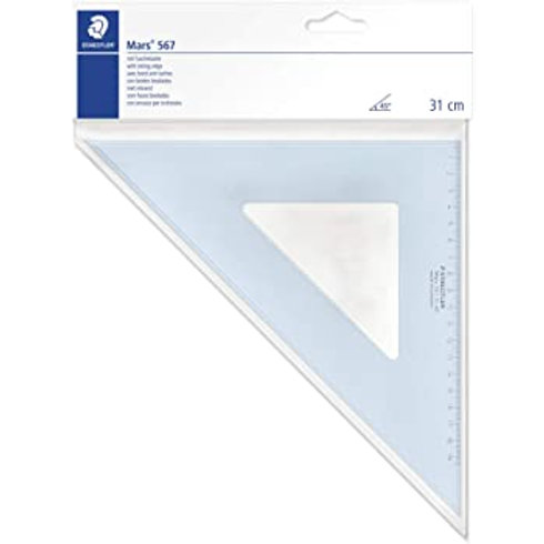 Staedtler Mars 567 31-45 Set Square 32 cm 45/45 Degree - Blue
