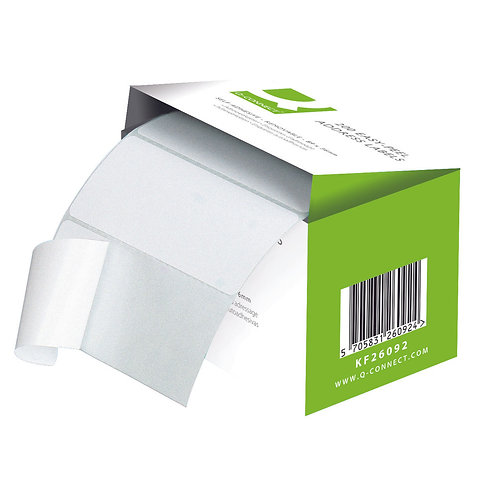 Address Label Roll Repositionable Self Adhesive 89mmx36mm White (Pack of 200)