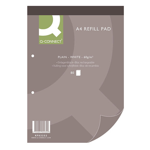 Plain Headbound Refill Pad 160 Pages A4