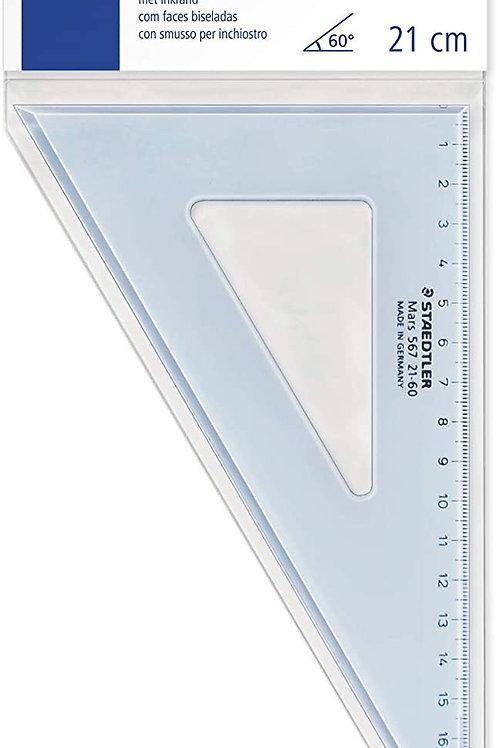 Staedtler Mars 567 21-60 Set Square 20 cm 60/30 Degree - Blue