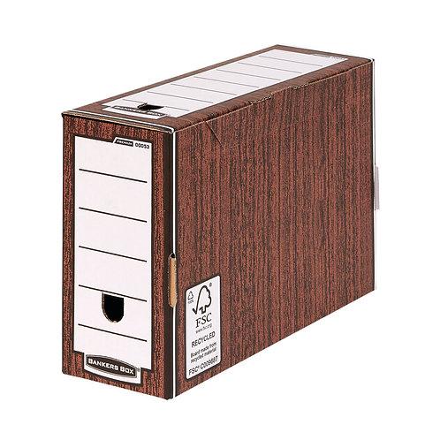 Bankers Box Premium 127mm Transfer File Woodgrain (Pack of 5)