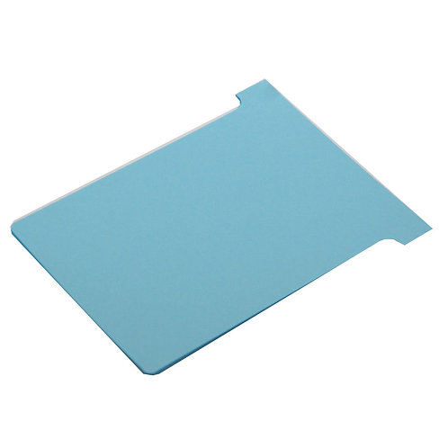 Nobo T-Card Size 3 80 x 120mm Light Blue (Pack of 100)