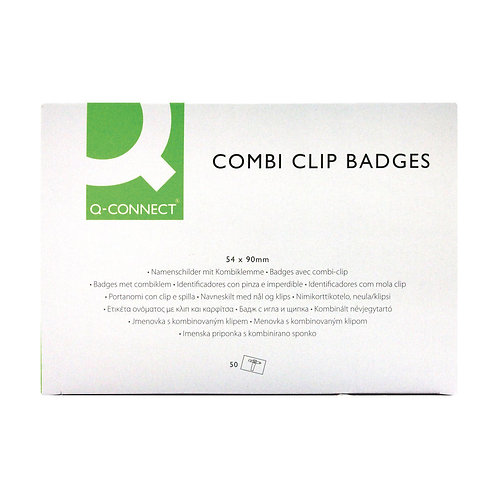 Combination Badge 54x90mm (Pack of 50)