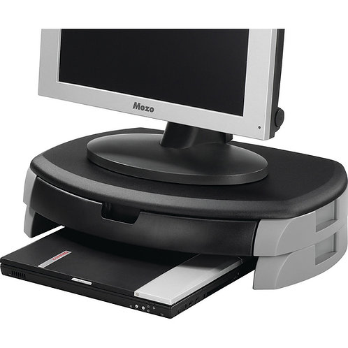 Q-Connect Monitor/Printer Stand Black/Grey