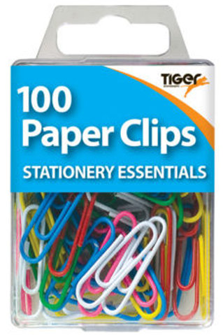 100 Paper Clips - Coloured