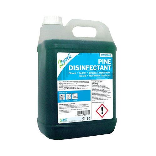 2Work Disinfectant and Deodoriser Fresh Pine 5 Litre Bulk Bottle
