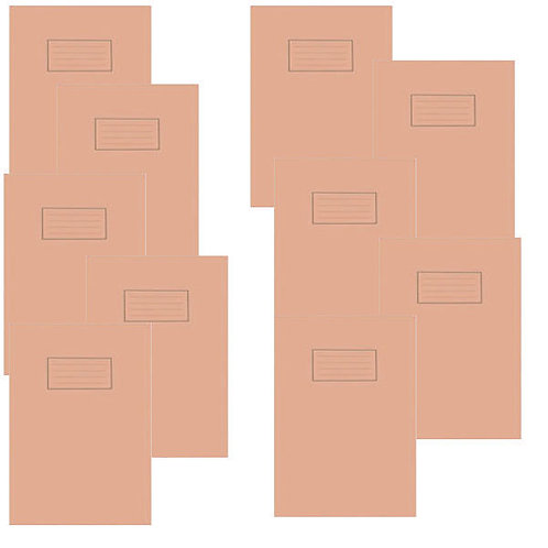 Silvine Exercise Book 5mm Squares A4 Orange (Pack of 10)