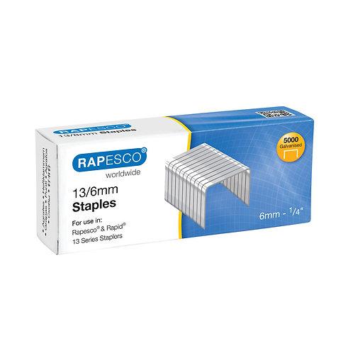 Rapesco 13/6mm Staples Chisel Point (Pack of 5000)