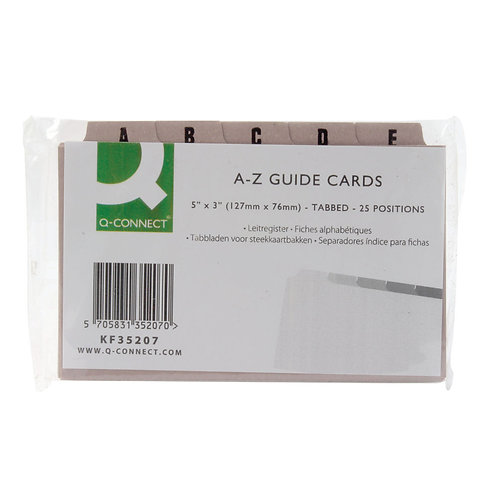 Guide Card 127x76mm A-Z Buff (Pack of 25)